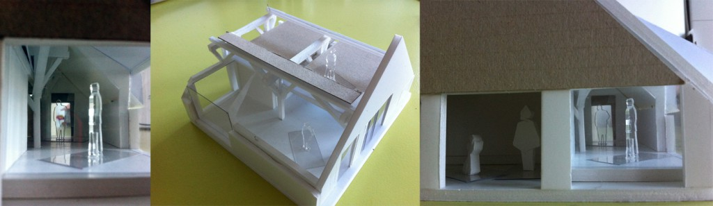 fysieke maquette ontwerp verbouwing atelier