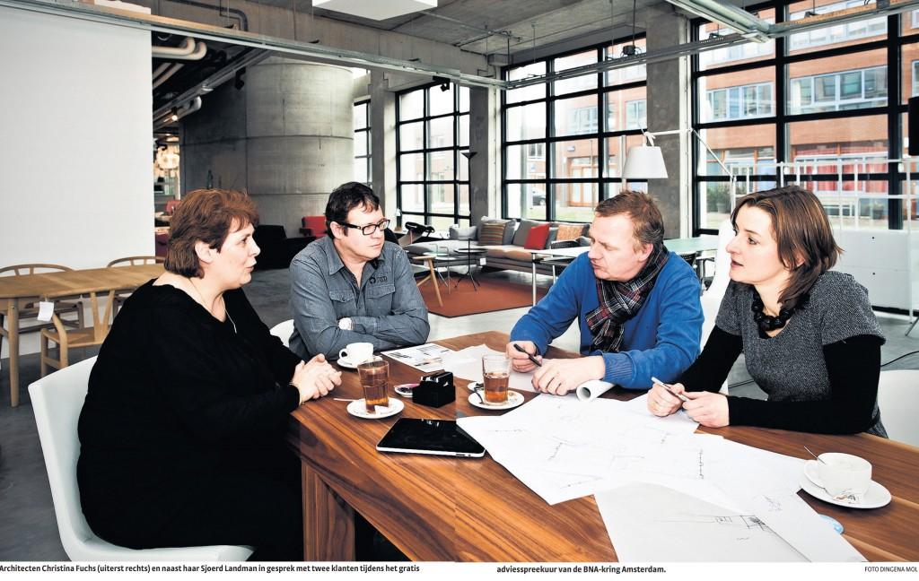 Christina Fuchs en Sjoerd Landman geven advies voor de Architectenwinkel Foto: Dingena Mol