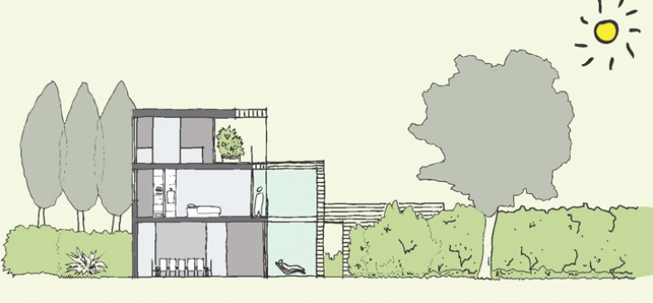Eigentijds ontwerp voor vrijstaand huis nieuwbouw zelfbouw