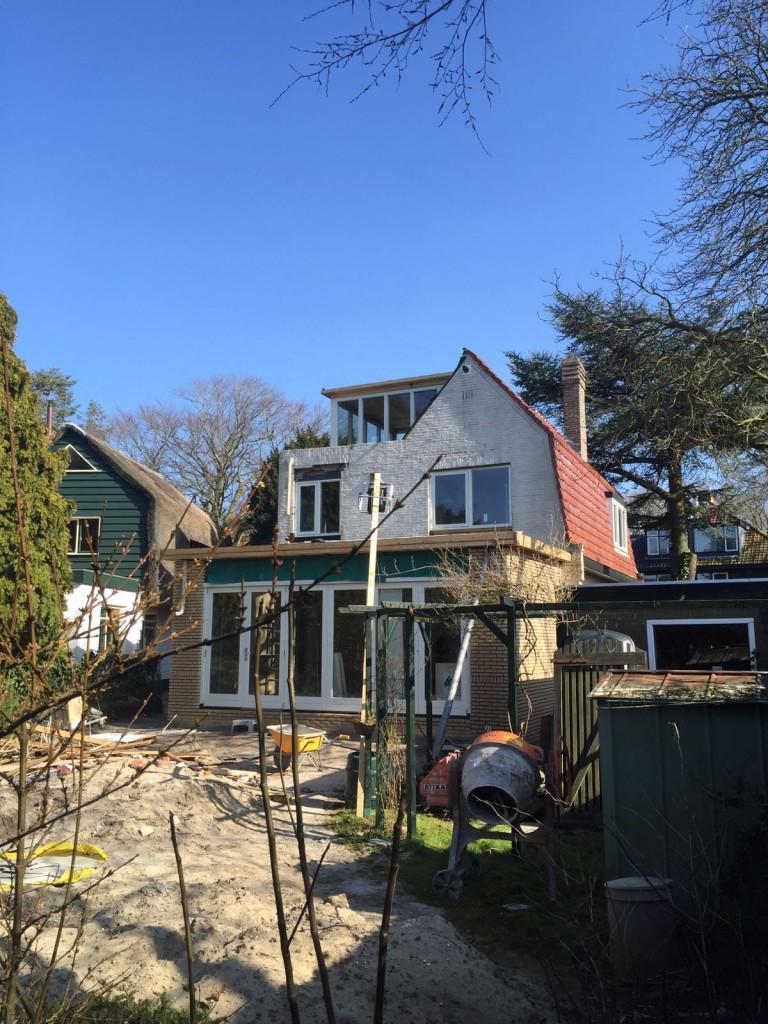 dakvorm hersteld met nieuw opbouw en aanbouw